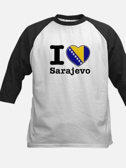I love Sarajevo Kids Baseball Jersey