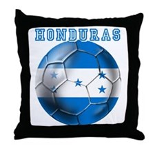 Honduras Soccer Football Throw Pillow