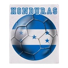 Honduras Soccer Football Throw Blanket
