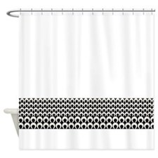 Retro Mod Pattern Shower Curtain
