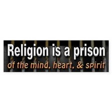 Religion is Prison Car Sticker