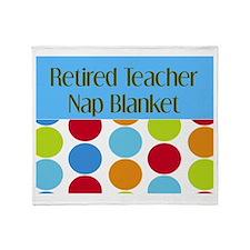 Retired Teacher Throw Blanket