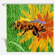 Honey Bee Shower Curtain