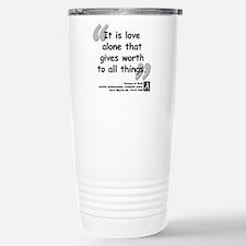 Saint Teresa Love Quote Stainless Steel Travel Mug