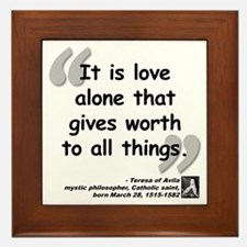 Saint Teresa Love Quote Framed Tile