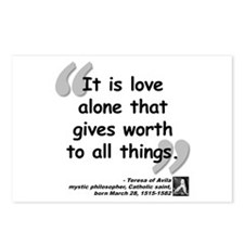 Saint Teresa Love Quote Postcards (Package of 8)