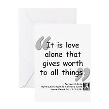 Saint Teresa Love Quote Greeting Card