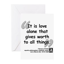 Saint Teresa Love Quote Greeting Cards (Pk of 10)