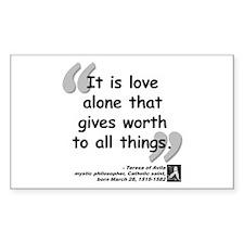 Saint Teresa Love Quote Decal