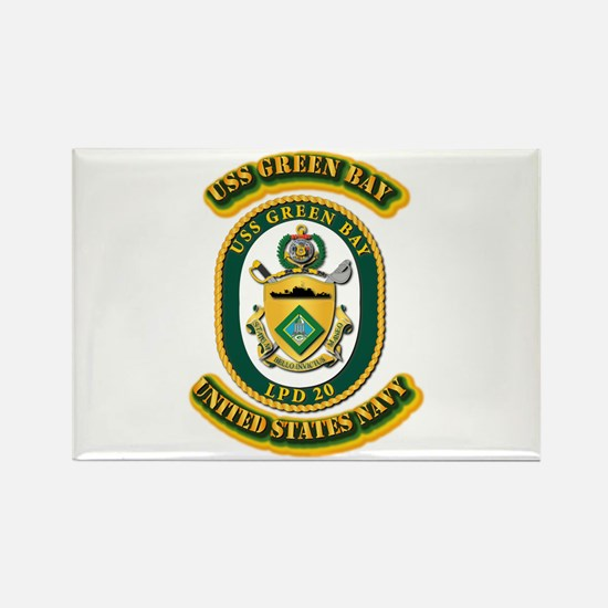 US - NAVY - USS - Green Bay Rectangle Magnet
