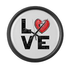 L <3 V E Large Wall Clock