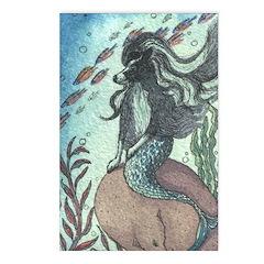 Border Collie dog mermaid Postcards (Package of 8)