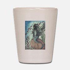 Border Collie dog mermaid Shot Glass