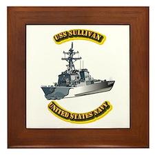 US - NAVY - USS - Sullivan Framed Tile