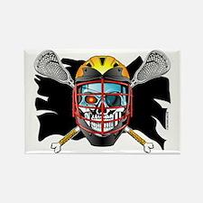 Pirate Lacrosse @ eShirtLabs Rectangle Magnet