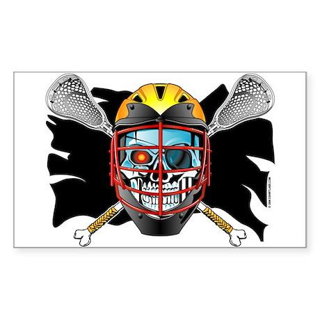 Pirate Lacrosse @ eShirtLabs Rectangle Sticker