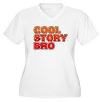 Cool Story Bro Women's Plus Size V-Neck T-Shirt