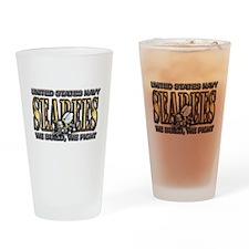 New SectionUS Navy Seabees Go Drinking Glass