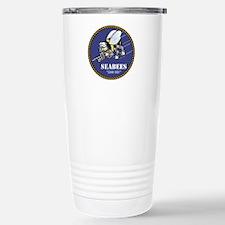 USN Seabees Official Stainless Steel Travel Mug