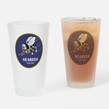 USN Seabees Official Drinking Glass