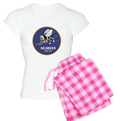 USN Seabees Official Women's Light Pajamas