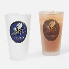 USN Seabees Official Beveled Drinking Glass