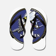USN Seabees Official Beveled Flip Flops