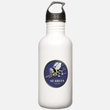 USN Seabees Official Beveled Water Bottle