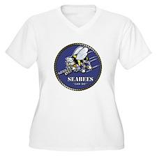 USN Seabees Official Beveled T-Shirt