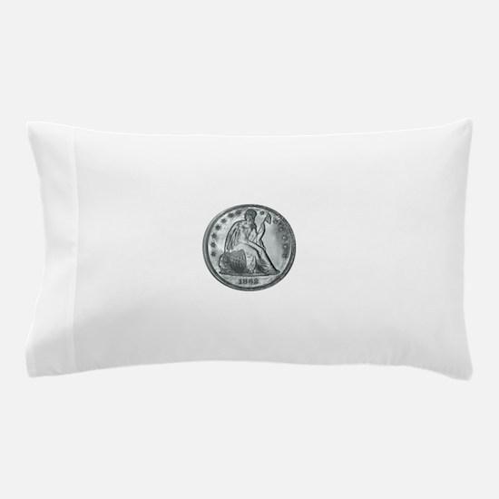 1862 Silver Coin Pillow Case