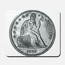 1862 Silver Coin Mousepad