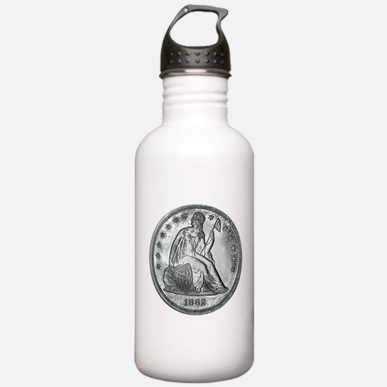 1862 Silver Coin Water Bottle