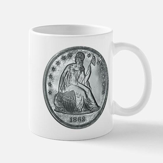 1862 Silver Coin Mug