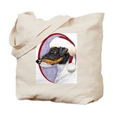 Fox Terrier Santa Tote Bag