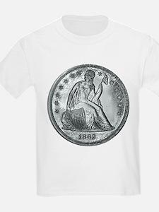 1862 Silver Coin T-Shirt