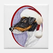 Fox Terrier Santa Tile Coaster