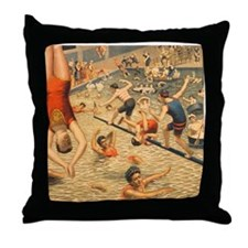 Grand Water Circus Poster Throw Pillow