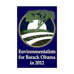 Environmentalists for Barack Obama Poster