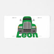 Trucker Leon Aluminum License Plate
