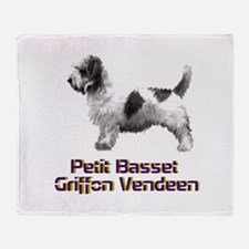 petit basset griffon vendeen Throw Blanket