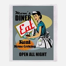Moms Diner Retro 50's Blanket