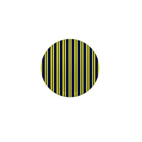 Navy Yellow Stripes Mini Button (100 pack)