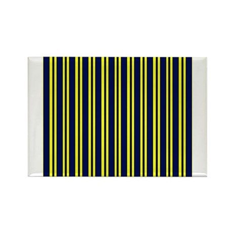 Navy Yellow Stripes Rectangle Magnet (100 pack)