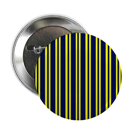 """Navy Yellow Stripes 2.25"""" Button (100 pack)"""