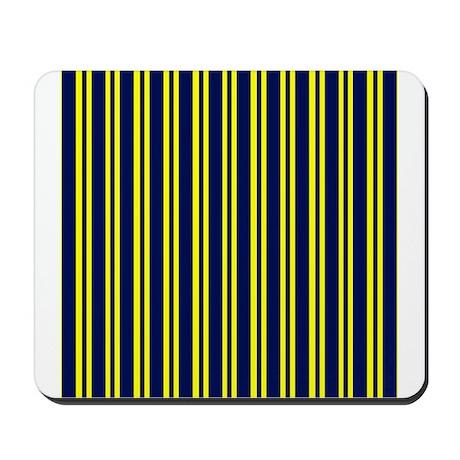 Navy Yellow Stripes Mousepad