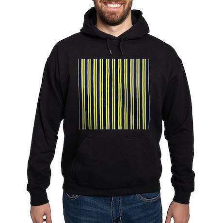 Navy Yellow Stripes Hoodie (dark)