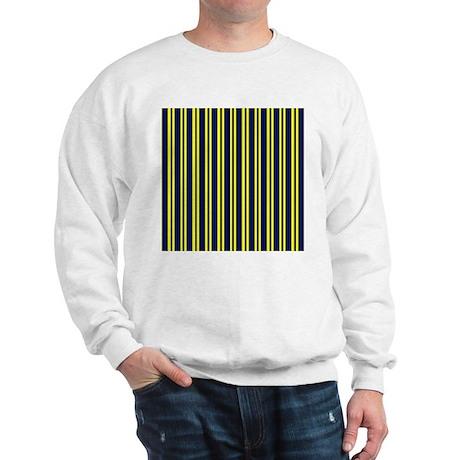 Navy Yellow Stripes Sweatshirt