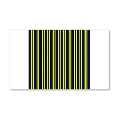 Navy Yellow Stripes Car Magnet 20 x 12