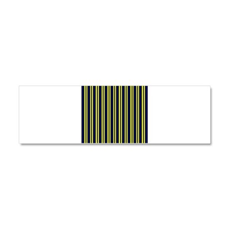 Navy Yellow Stripes Car Magnet 10 x 3