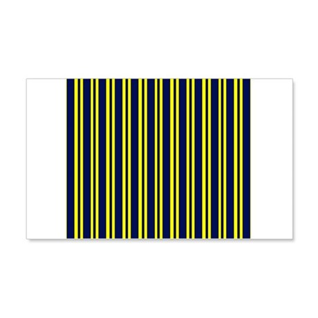 Navy Yellow Stripes 22x14 Wall Peel
